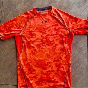 Under Armour orange compression shirt
